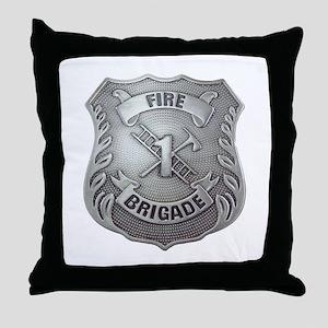 Fire Brigade Badge Throw Pillow