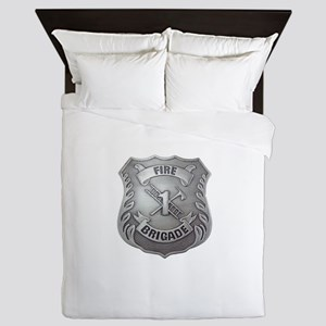 Fire Brigade Badge Queen Duvet