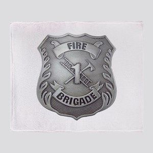 Fire Brigade Badge Throw Blanket
