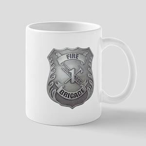 Fire Brigade Badge Mugs