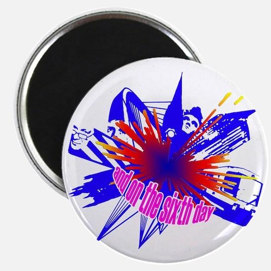 Manchester Outline blue Magnet