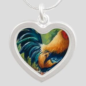 Dezine01_El Rojo (The Red On Silver Heart Necklace