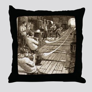 pulling_glass_tubes2 Throw Pillow