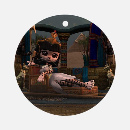 Cleopatra in Recline Round Ornament