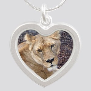 The Lioness Silver Heart Necklace