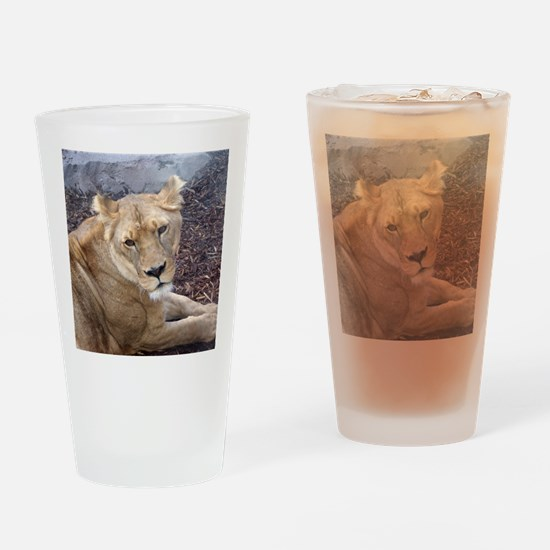 The Lioness Drinking Glass