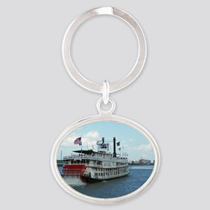 Riverboat Oval Keychain