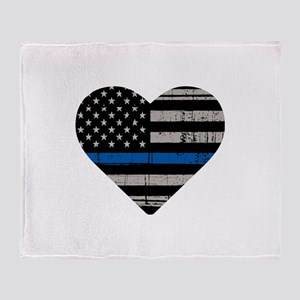 Shop Thin Blue Line Throw Blanket