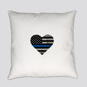 Shop Thin Blue Line Everyday Pillow