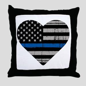 Shop Thin Blue Line Throw Pillow