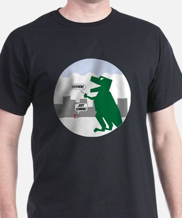 justcoming dinosaur badge T-Shirt