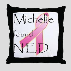 NDE - Michelle Throw Pillow