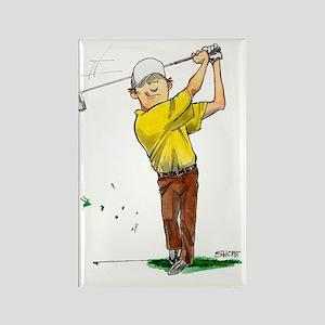 GolfDriveNoteC Rectangle Magnet