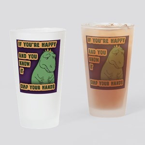 t-rex-clap-BUT Drinking Glass