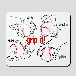 GripItBaseballNoteC. Mousepad
