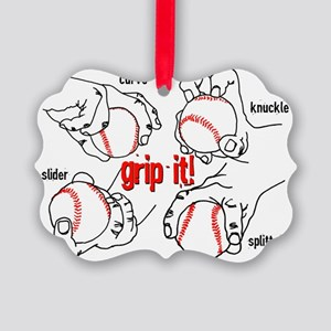 GripItBaseballNoteC. Picture Ornament
