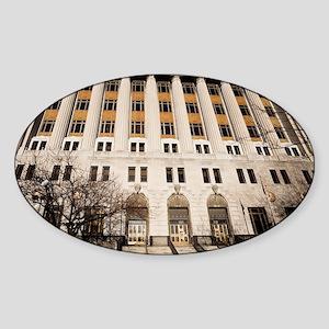 1DS2-2795-NOTECARD Sticker (Oval)