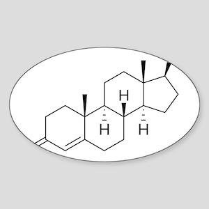Testosterone-molecule-nt Sticker (Oval)