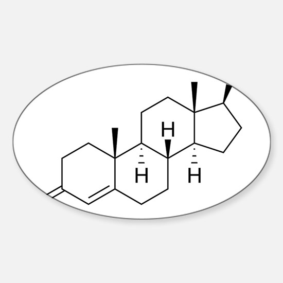 Testosterone-molecule-nt Sticker (Oval)