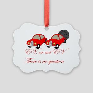 EV or not EV 2 Picture Ornament