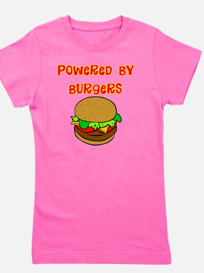 powered by Burgers DARKS Girl's Tee