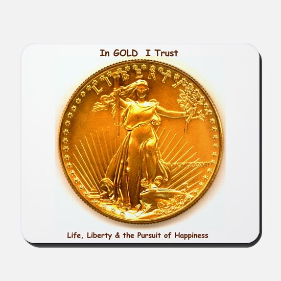 Gold & Liberty Mousepad