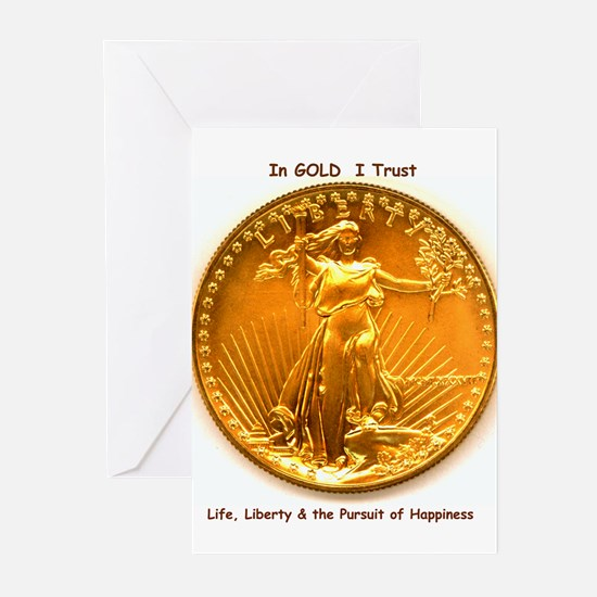 Gold & Liberty Greeting Cards (Pk of 10)