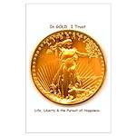 Gold & Liberty Large Poster