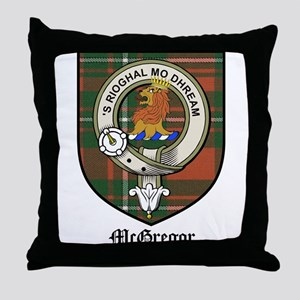 McGregor Clan Crest Tartan Throw Pillow