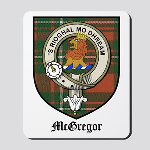 McGregor Clan Crest Tartan Mousepad