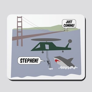 justcoming-shark-helicopter Mousepad