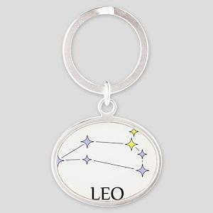 leoB Oval Keychain