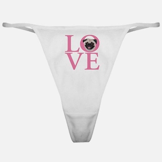 Love Pug - Classic Thong