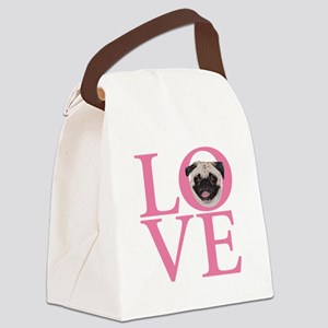 Love Pug - Canvas Lunch Bag