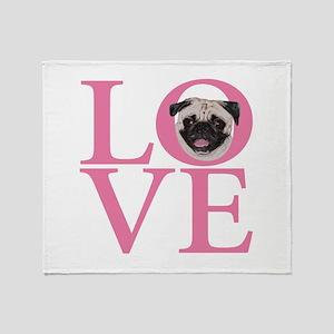 Love Pug - Throw Blanket