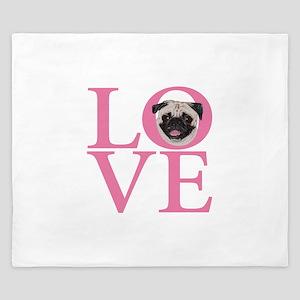 Love Pug - King Duvet