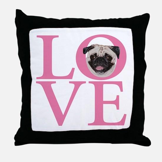 Love Pug - Throw Pillow
