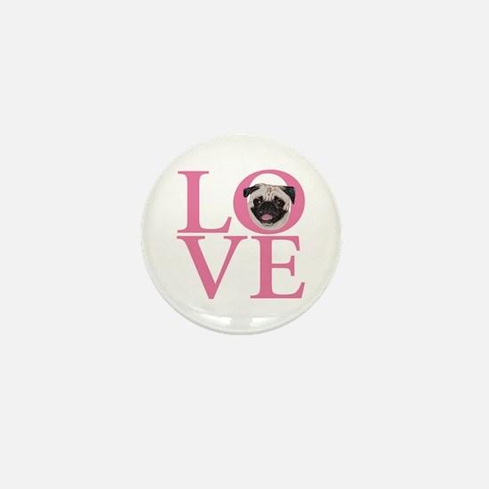 Love Pug - Mini Button
