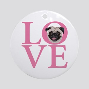 Love Pug - Ornament (Round)