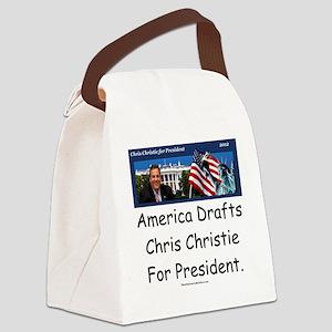 christie10x10 Canvas Lunch Bag