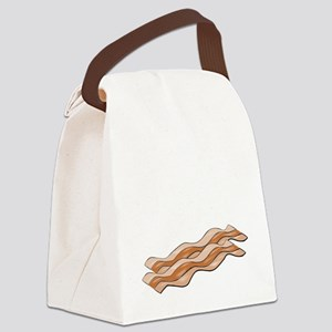 powered by bacon New Dark Shirt Canvas Lunch Bag