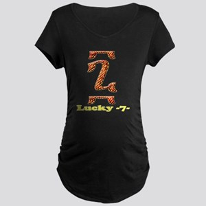 Seven-4 copy Maternity Dark T-Shirt