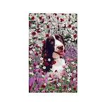 Lady Brittany Spaniel Flowers 3'x5' Area Rug