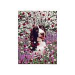 Lady Brittany Spaniel Flowers 5'x7'Area Rug