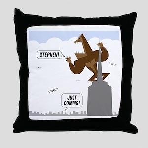 stephen king kong Throw Pillow