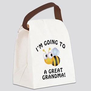 BeeGreatGrandma Canvas Lunch Bag
