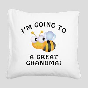 BeeGreatGrandma Square Canvas Pillow