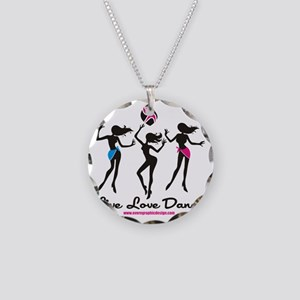 Dance Shirt LiveLoveDance Necklace Circle Charm