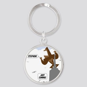 stephen king kong transparent Round Keychain