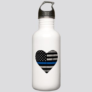 Shop Thin Blue Line Stainless Water Bottle 1.0L